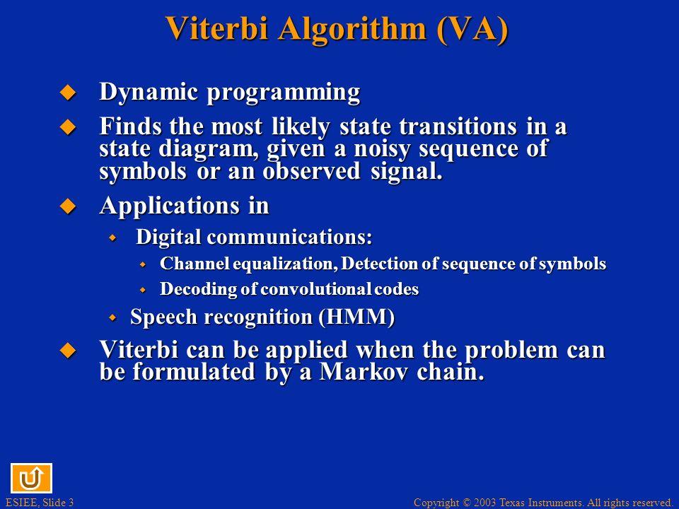 Viterbi Algorithm (VA)
