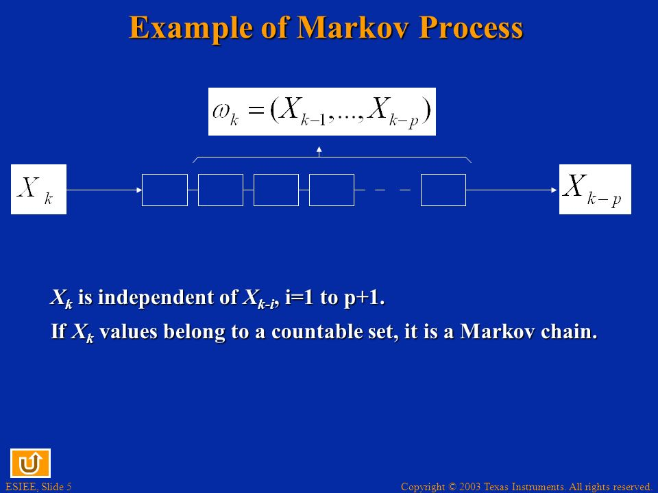 Example of Markov Process