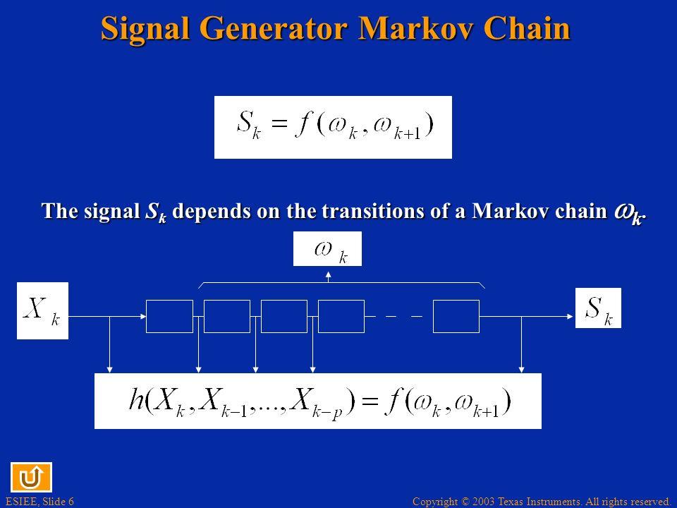 Signal Generator Markov Chain
