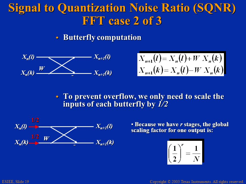 Signal to Quantization Noise Ratio (SQNR) FFT case 2 of 3