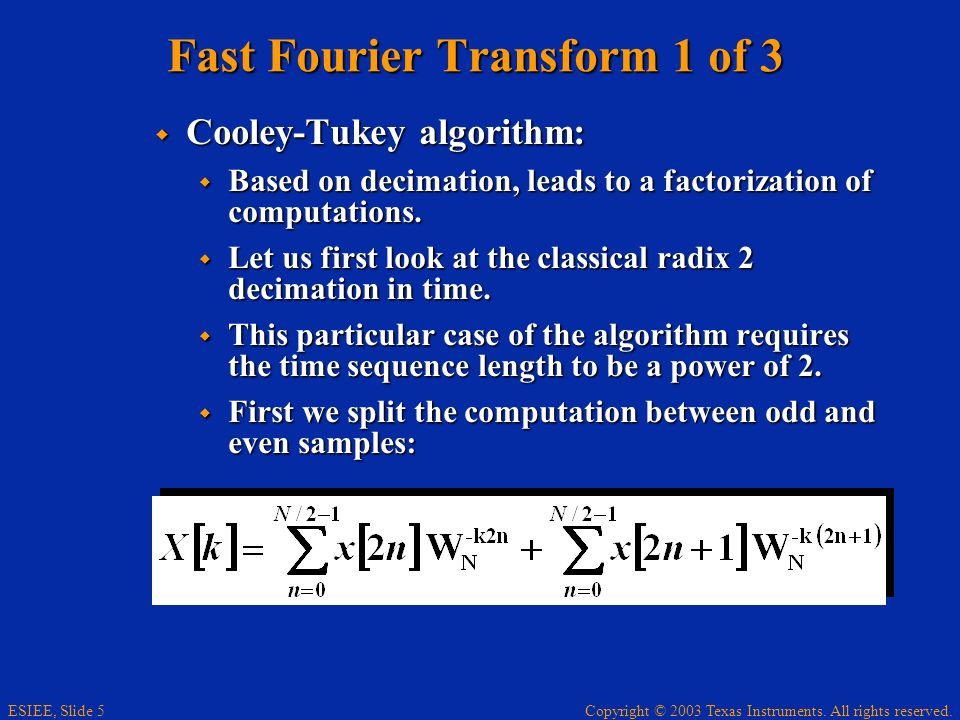 Fast Fourier Transform 1 of 3
