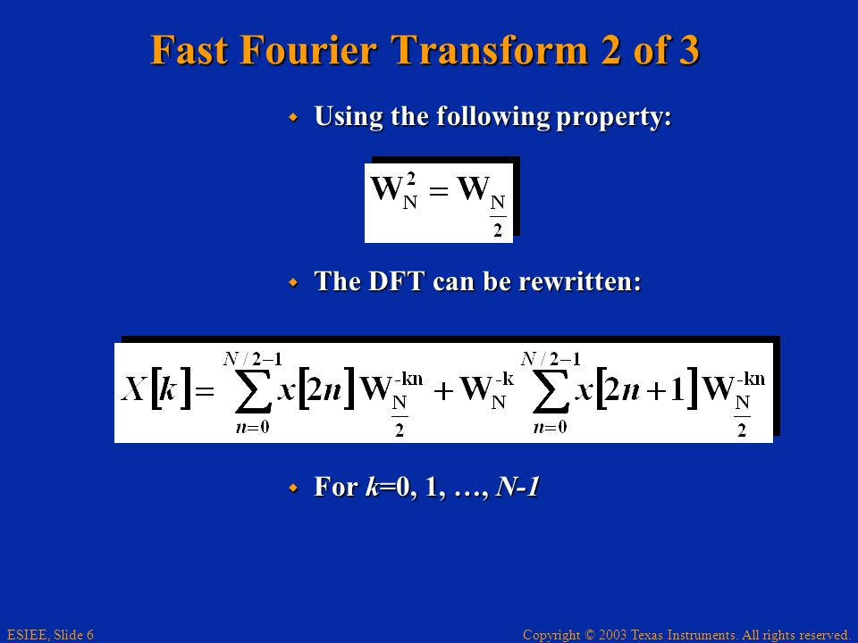 Fast Fourier Transform 2 of 3