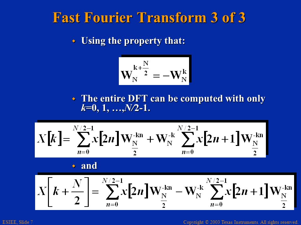 Fast Fourier Transform 3 of 3