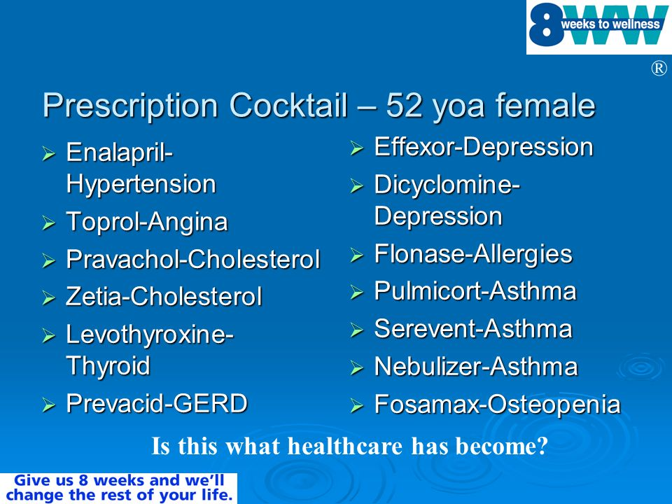 Prescription Cocktail – 52 yoa female