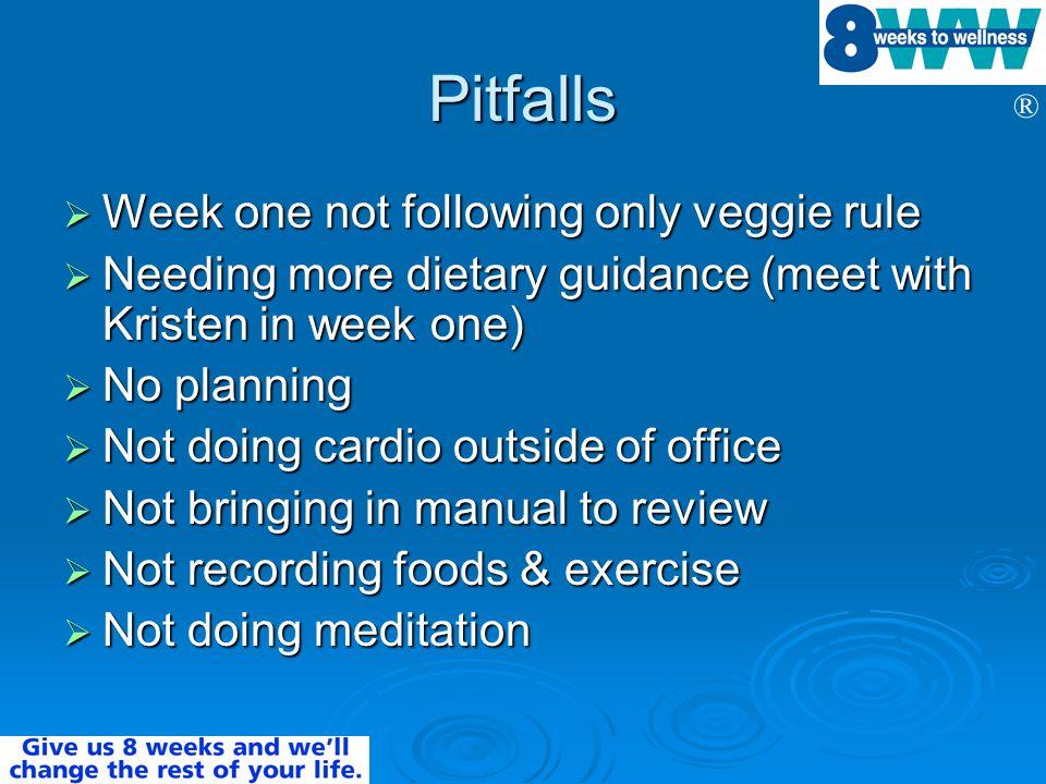 Pitfalls Week one not following only veggie rule