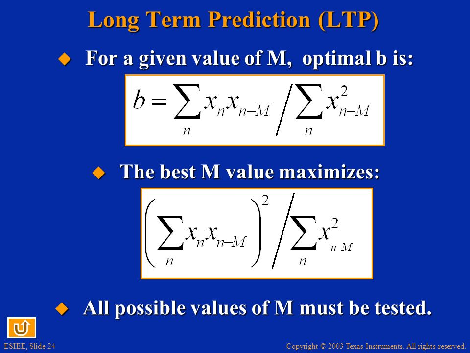 Long Term Prediction (LTP)