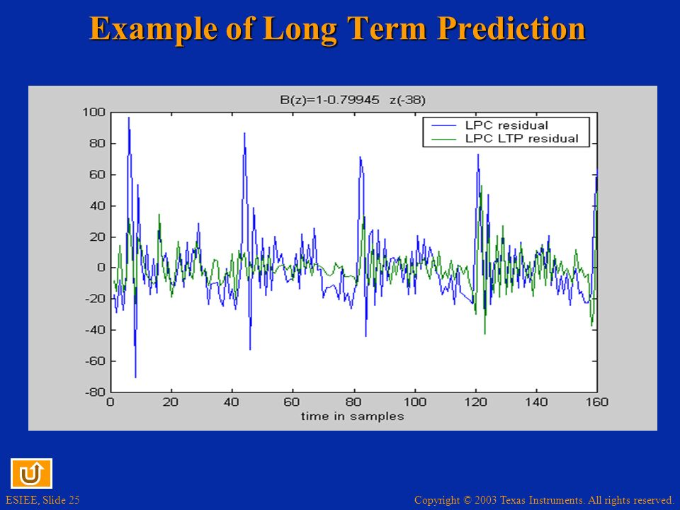 Example of Long Term Prediction