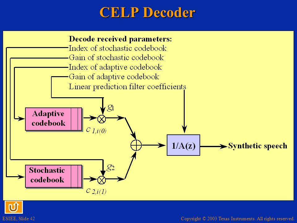 CELP Decoder