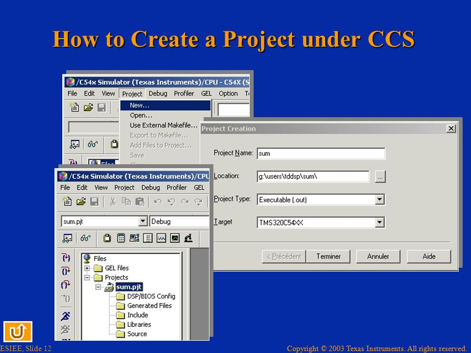 How to Create a Project under CCS