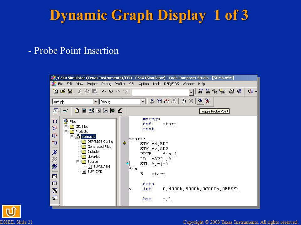 Dynamic Graph Display 1 of 3