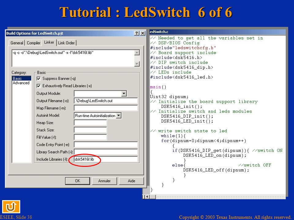 Tutorial : LedSwitch 6 of 6
