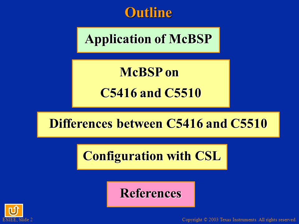 Differences between C5416 and C5510 Configuration with CSL