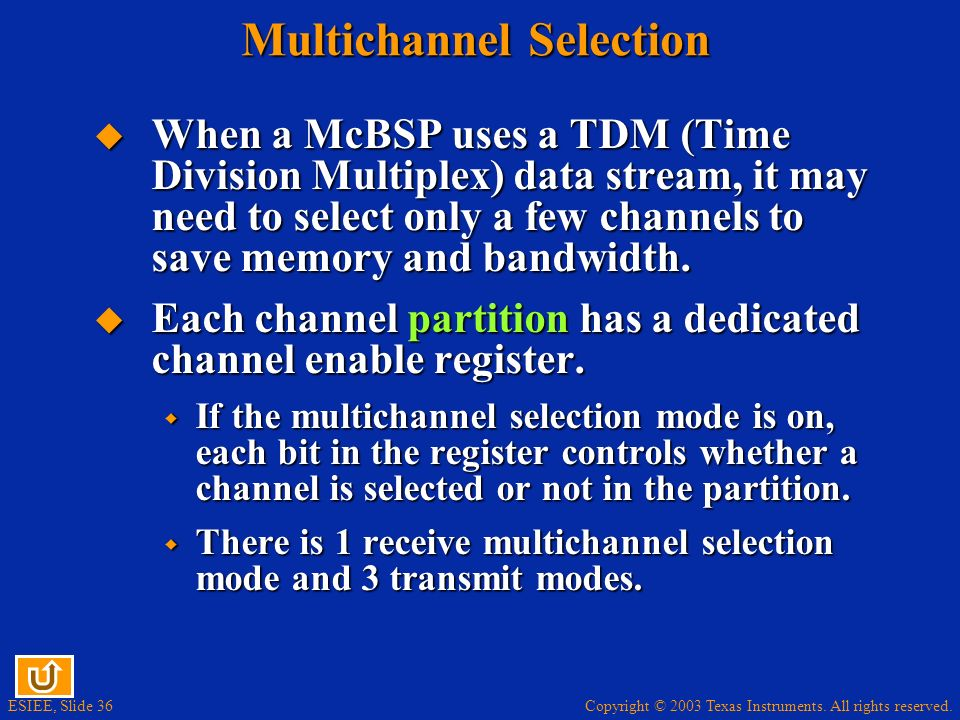 Multichannel Selection
