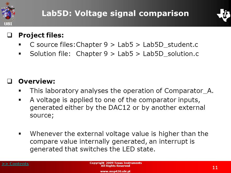 Lab5D: Voltage signal comparison