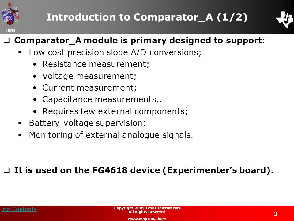 Introduction to Comparator_A (1/2)
