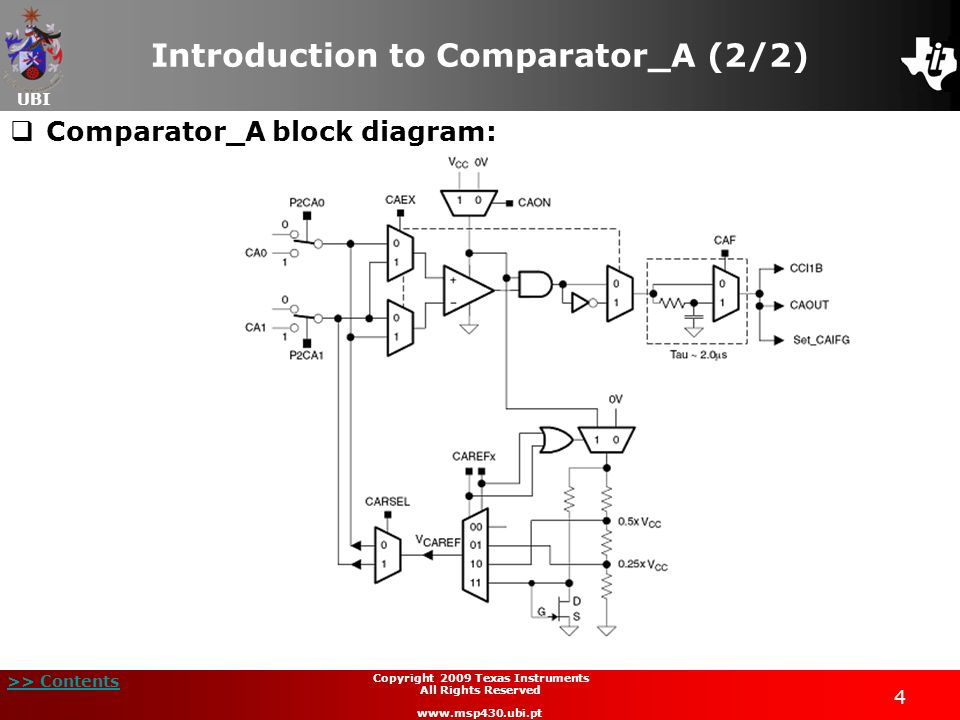 Introduction to Comparator_A (2/2)