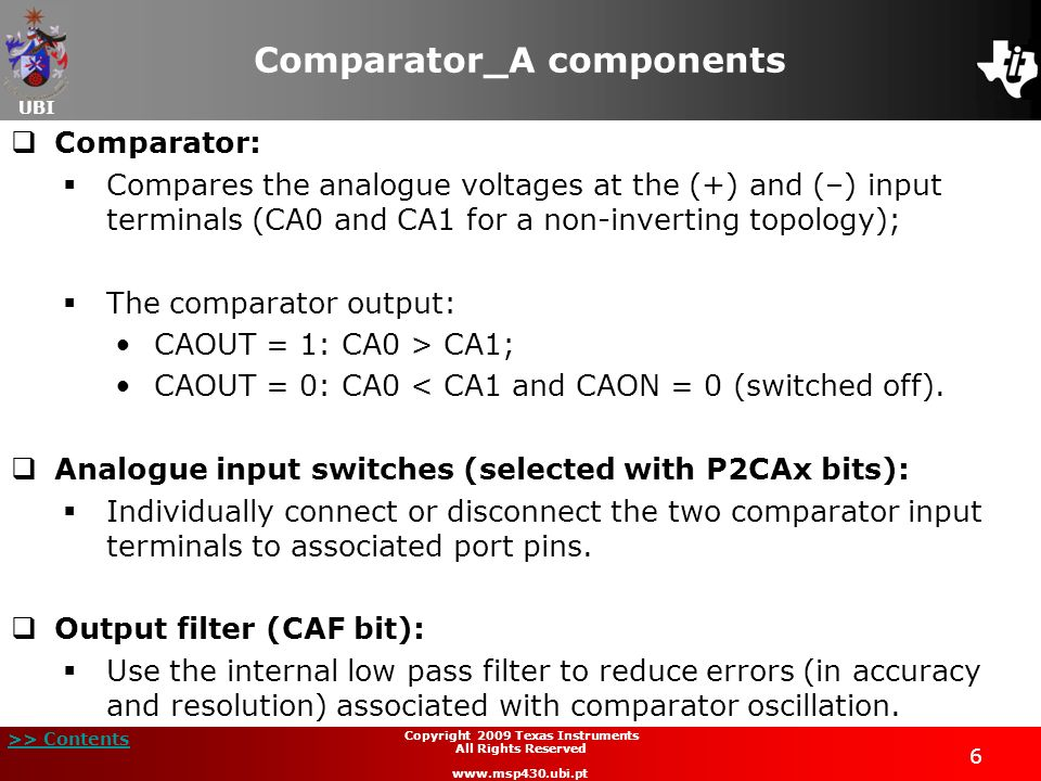 Comparator_A components