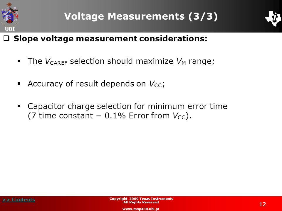Voltage Measurements (3/3)
