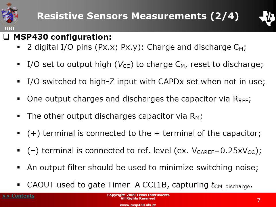 Resistive Sensors Measurements (2/4)