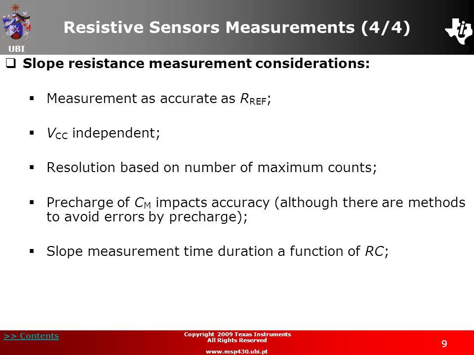 Resistive Sensors Measurements (4/4)