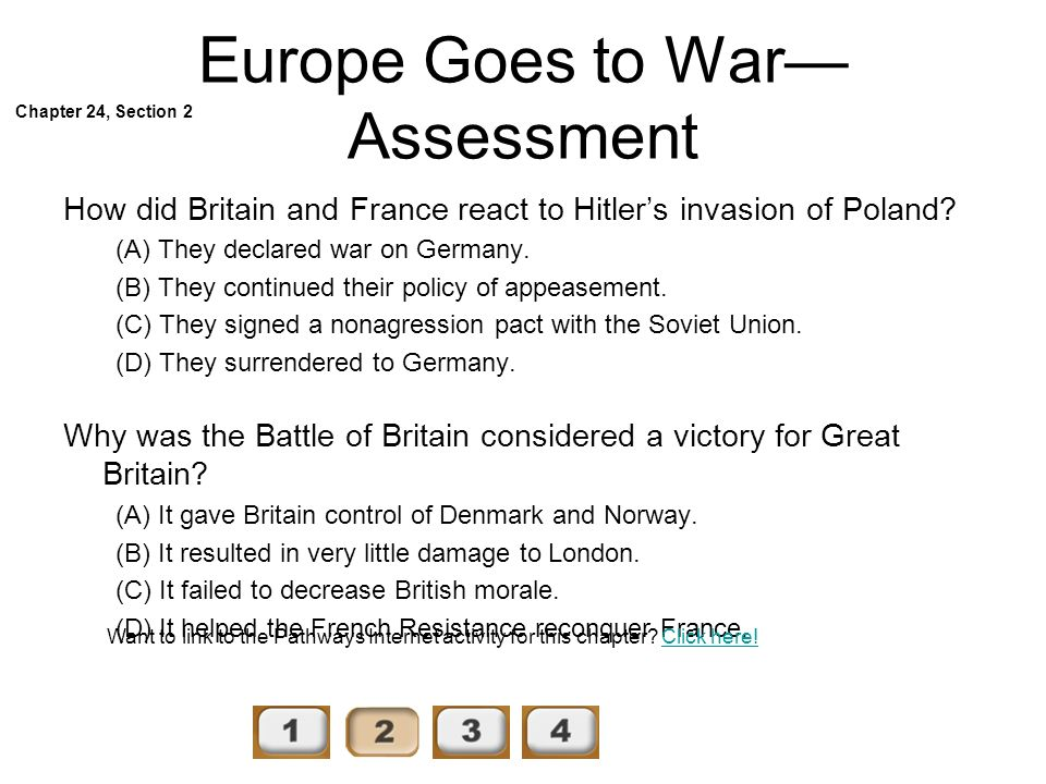 Europe Goes to War—Assessment