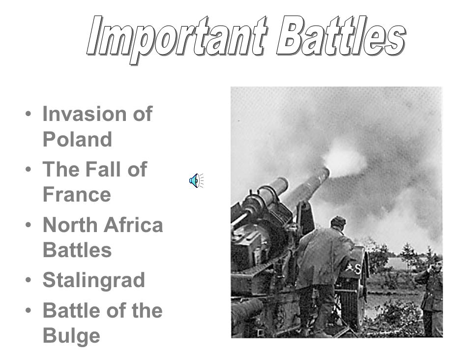 Important Battles Invasion of Poland The Fall of France