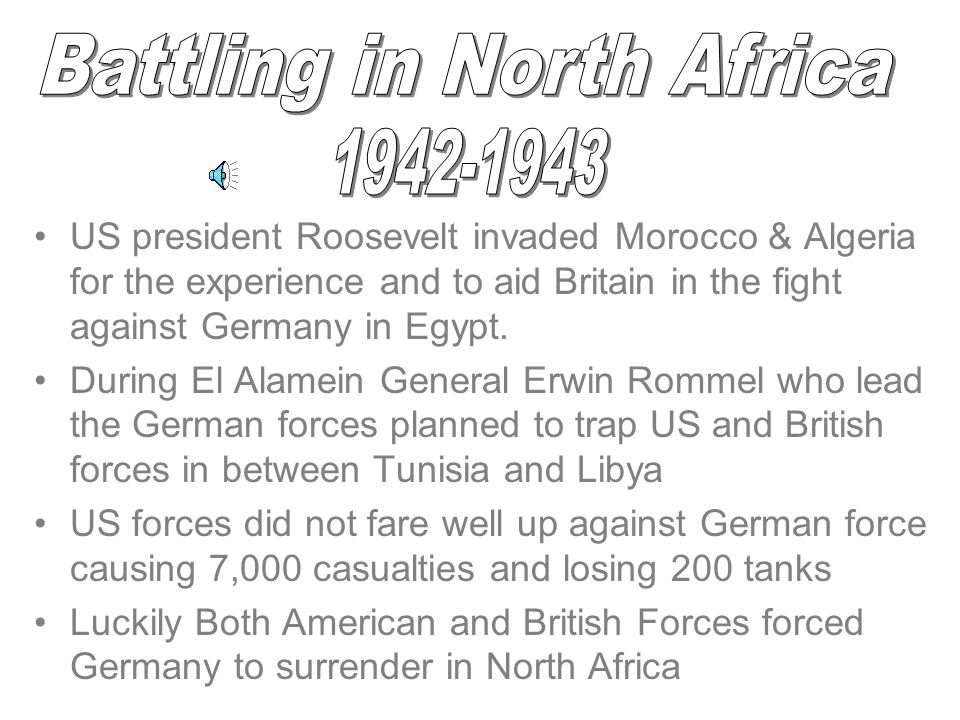 Battling in North Africa