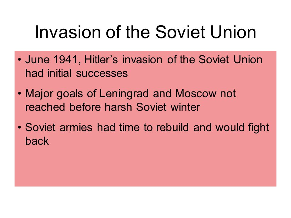 Invasion of the Soviet Union