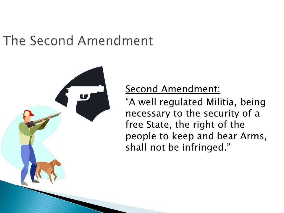 The Second Amendment Second Amendment: