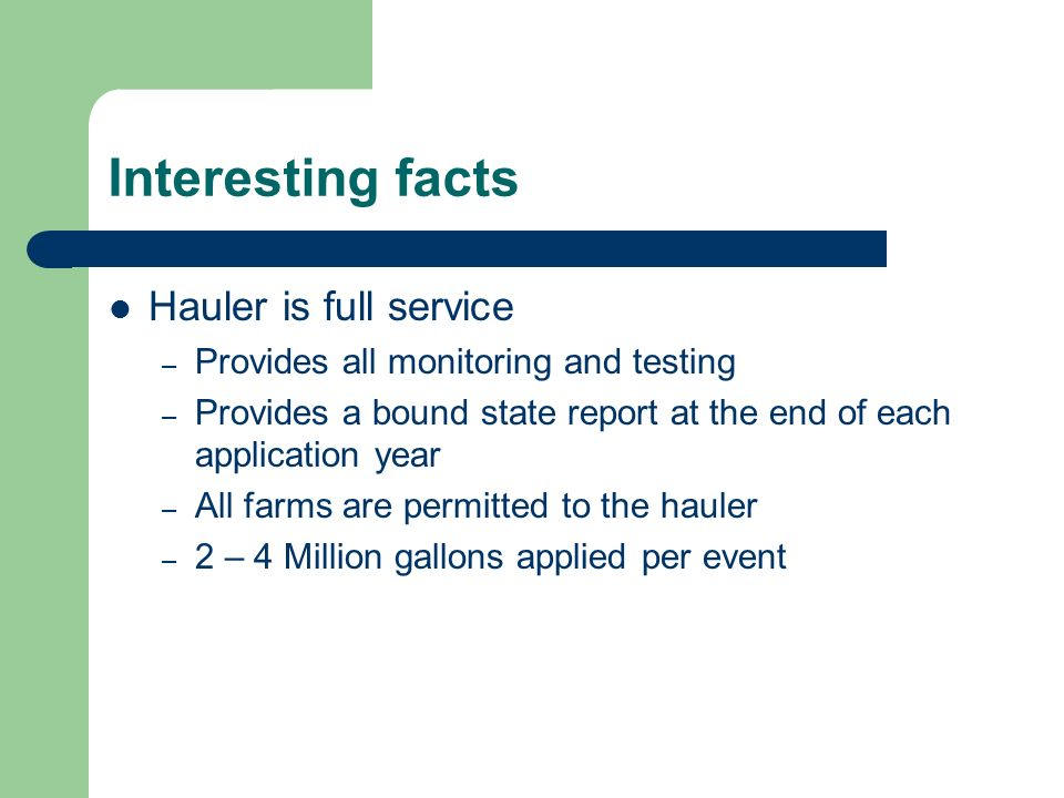 Interesting facts Hauler is full service