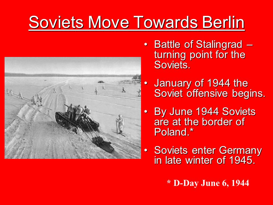 Soviets Move Towards Berlin
