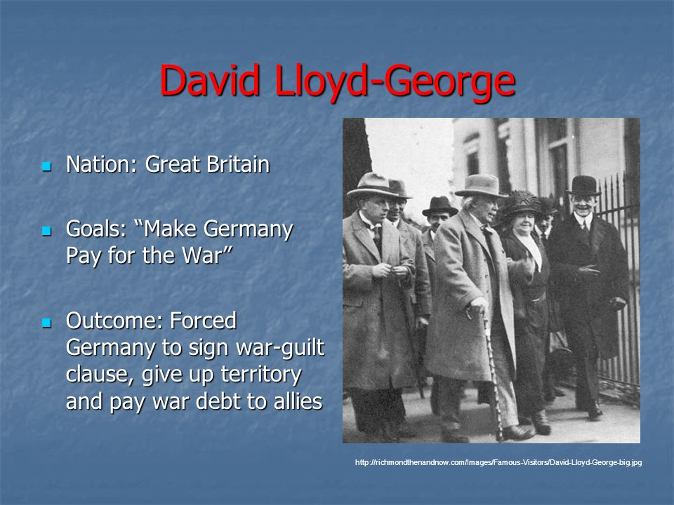 David Lloyd-George Nation: Great Britain