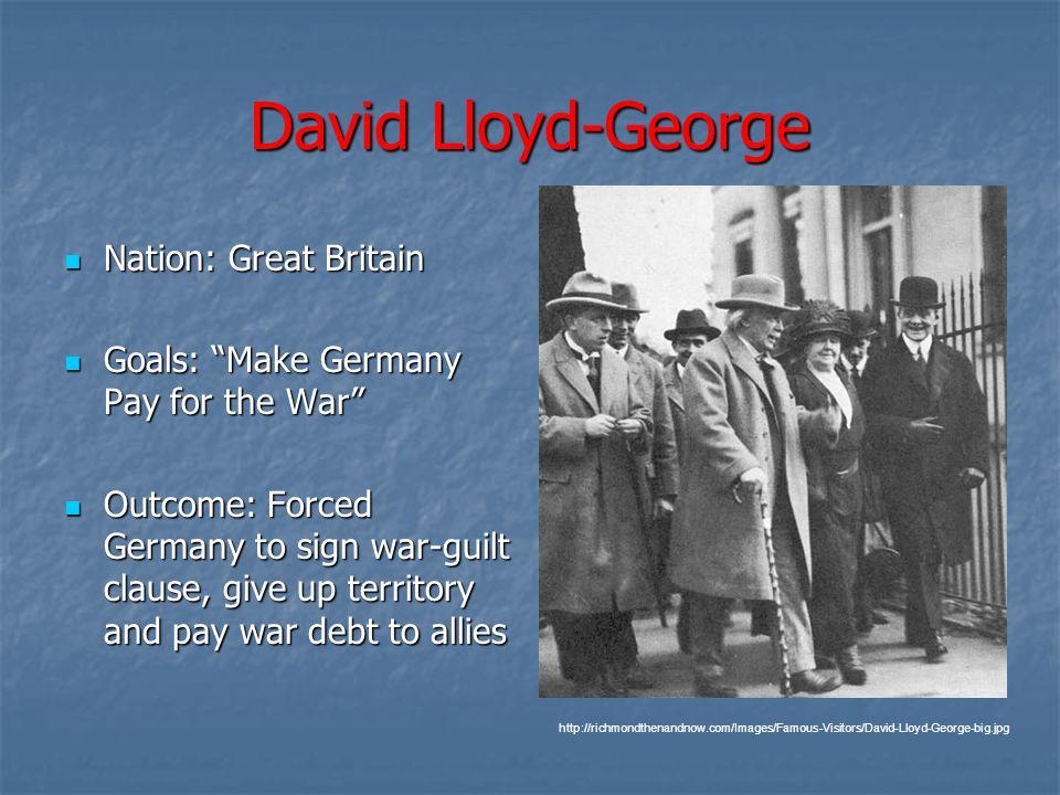 David Lloyd-George Nation: Great Britain
