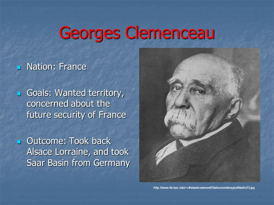 Georges Clemenceau Nation: France