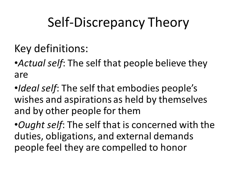 Self-Discrepancy Theory