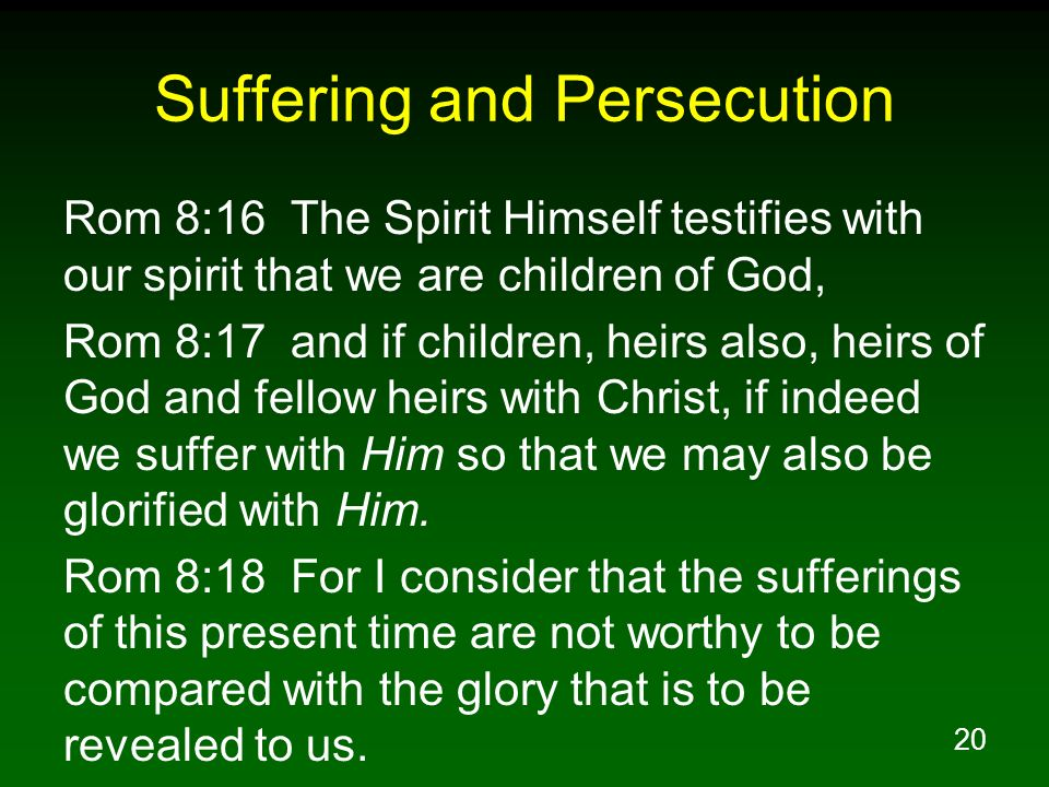 Suffering and Persecution