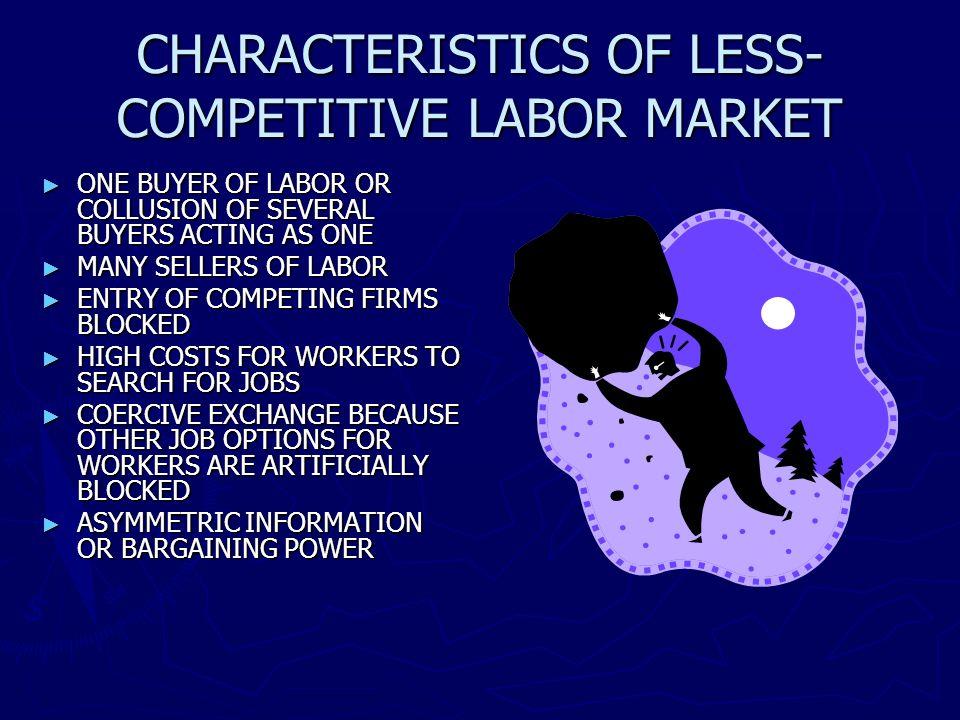 CHARACTERISTICS OF LESS-COMPETITIVE LABOR MARKET