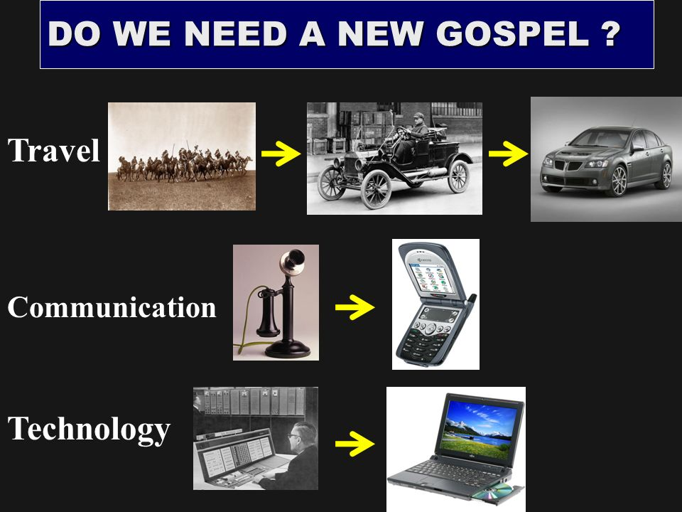 DO WE NEED A NEW GOSPEL Travel Technology Communication