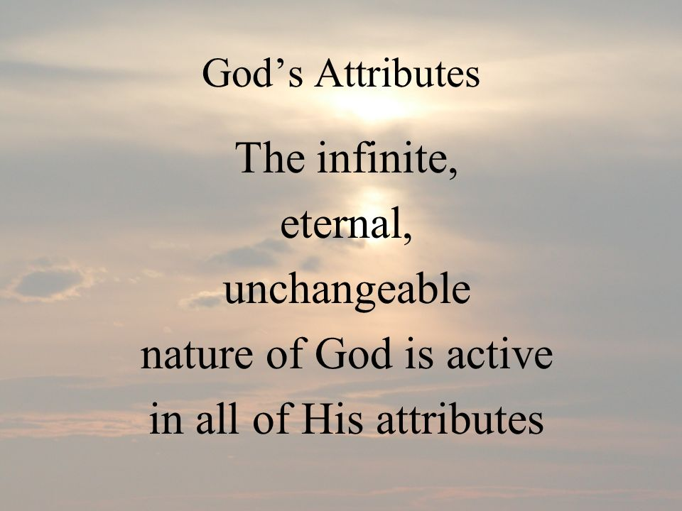 in all of His attributes