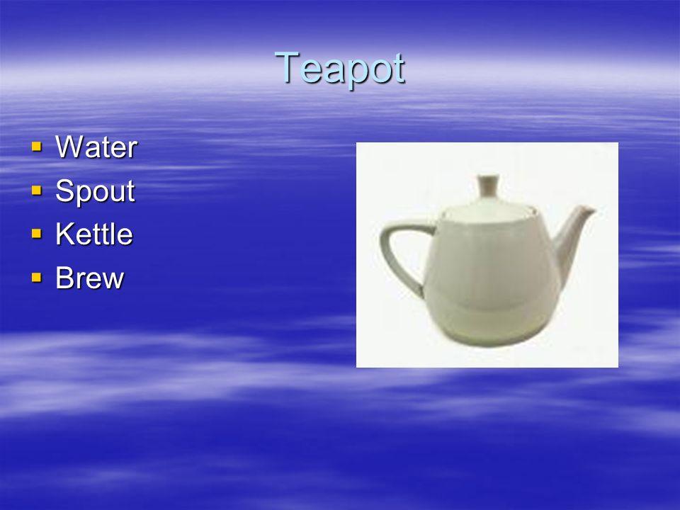 Teapot Water Spout Kettle Brew