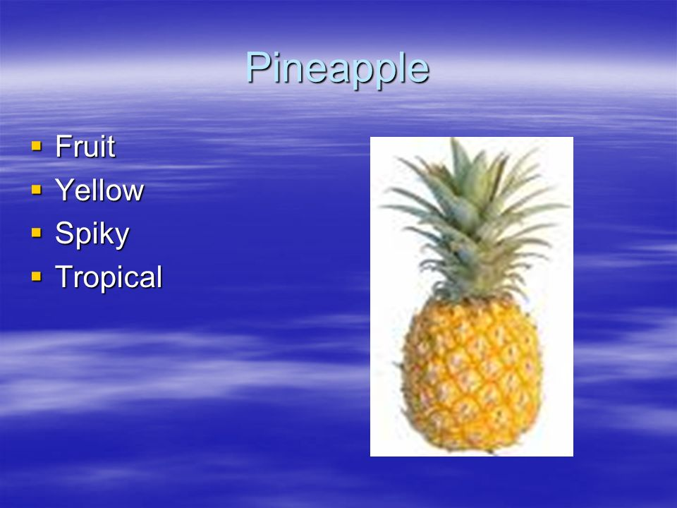 Pineapple Fruit Yellow Spiky Tropical