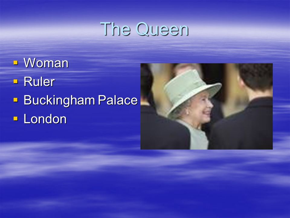 The Queen Woman Ruler Buckingham Palace London