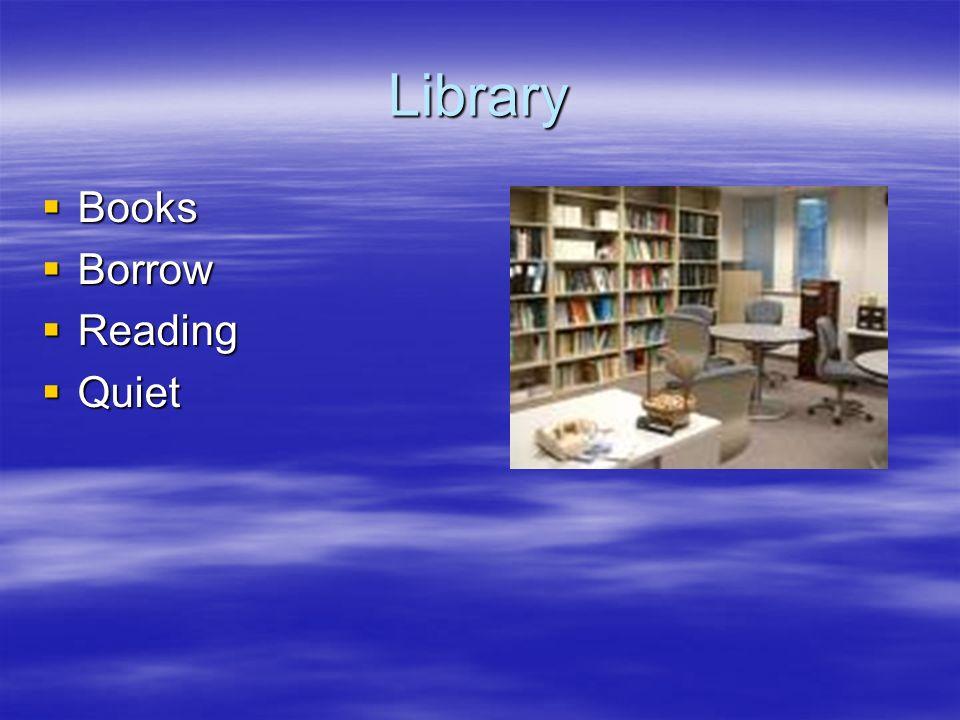 Library Books Borrow Reading Quiet