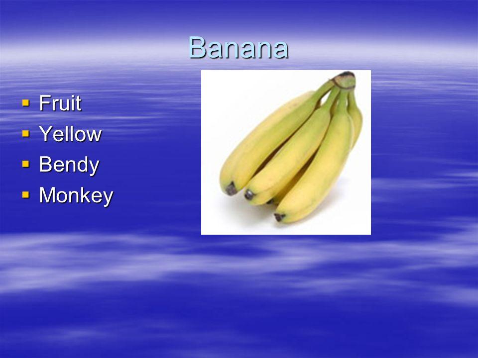 Banana Fruit Yellow Bendy Monkey