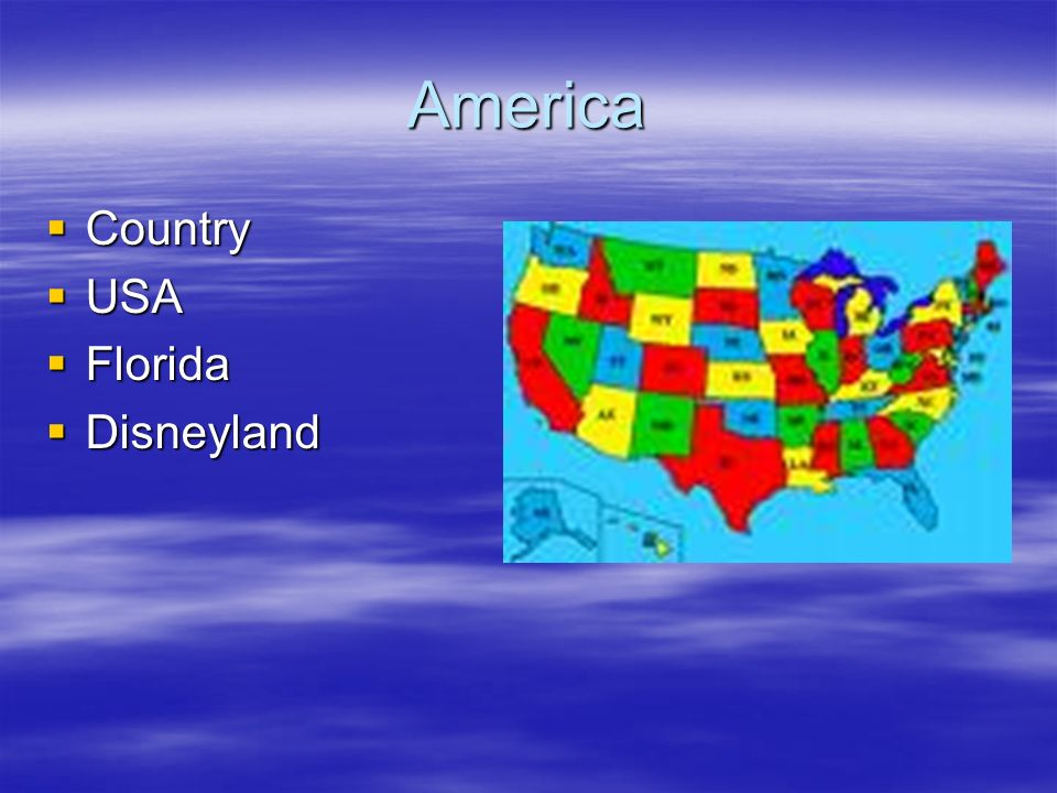 America Country USA Florida Disneyland