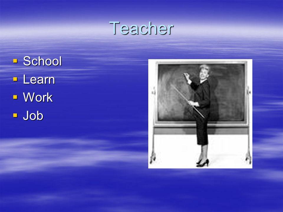 Teacher School Learn Work Job