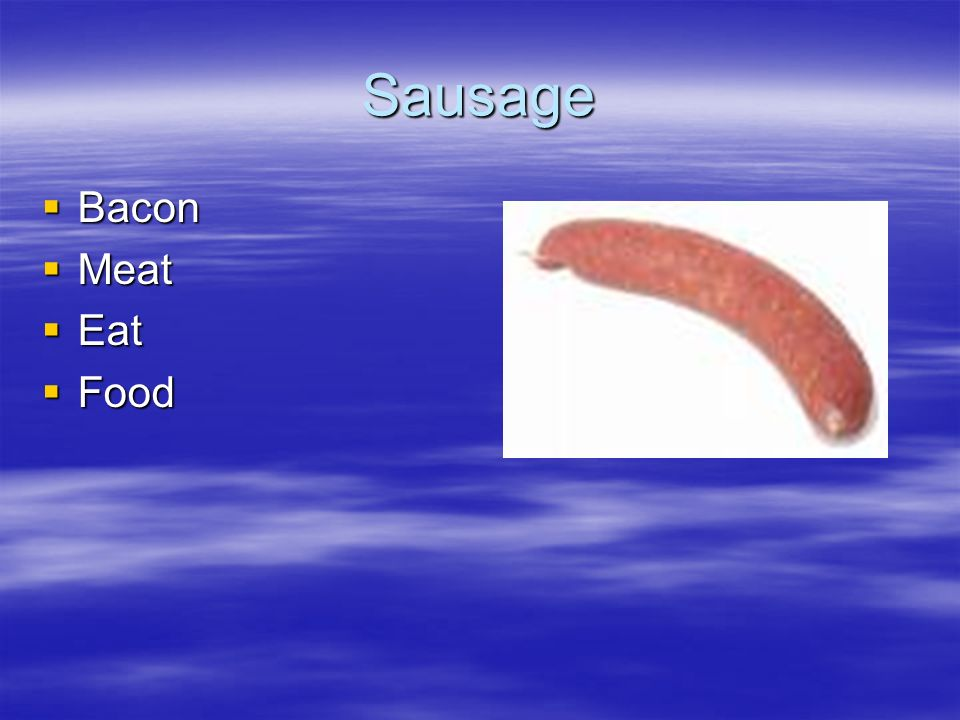 Sausage Bacon Meat Eat Food
