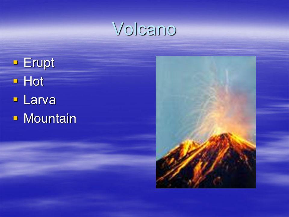 Volcano Erupt Hot Larva Mountain