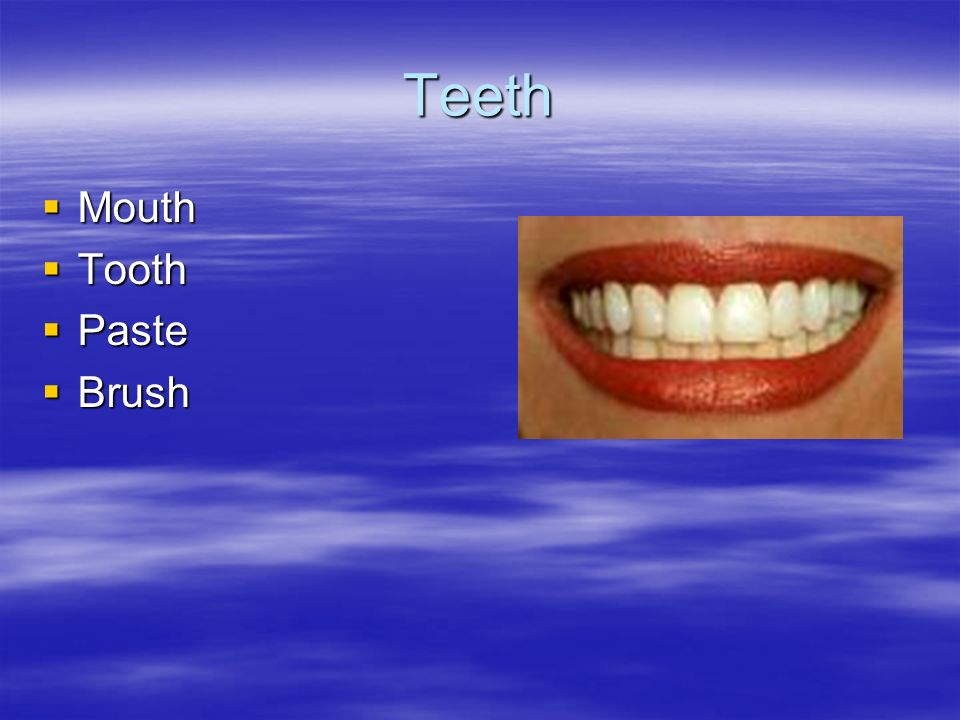Teeth Mouth Tooth Paste Brush