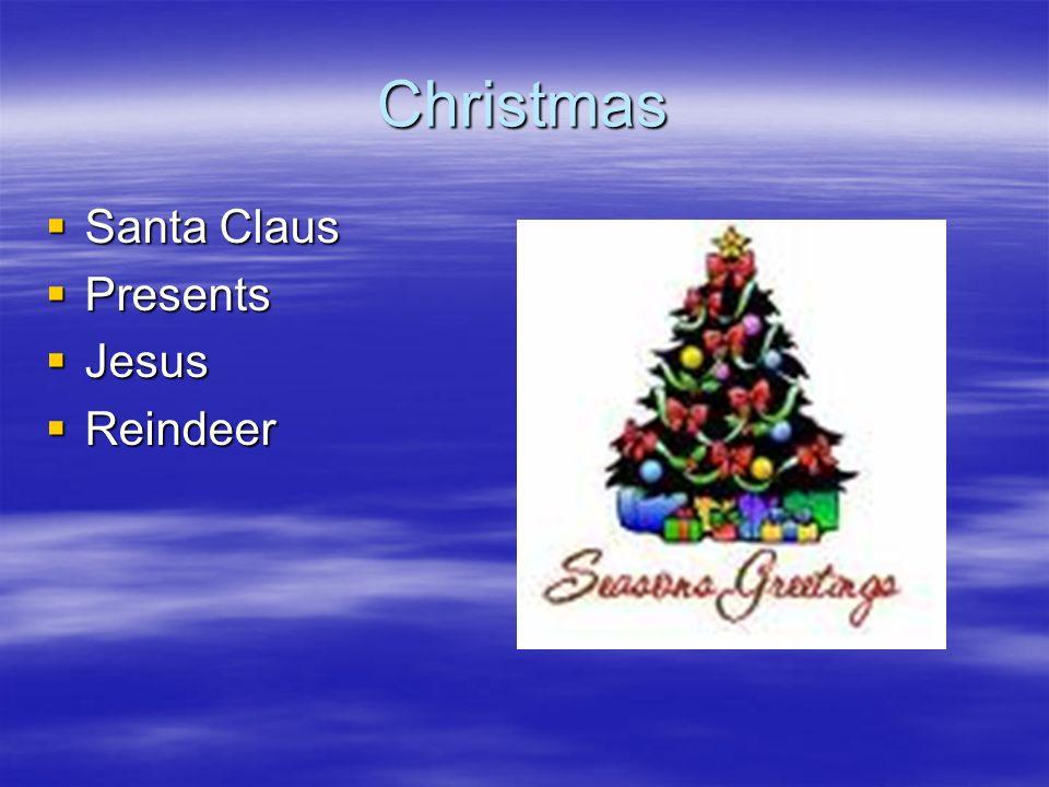 Christmas Santa Claus Presents Jesus Reindeer